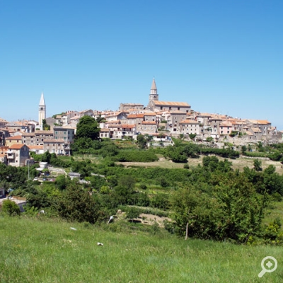 Buje area is surrounded by numerous hills, it is covered with vineyards, olive groves and fields, thus creating a typical Istrian landscape.